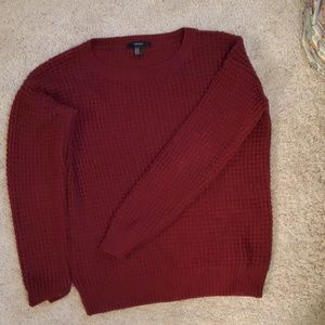 Brick Red Knit Sweater